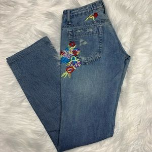 Joe's Jeans • Embroidered Distressed Jeans